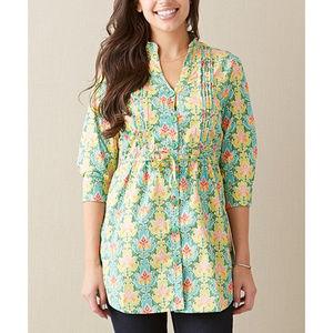 Matilda Jane Green Acres Button Up Tunic Top